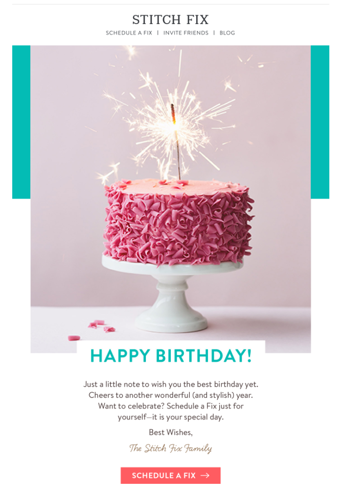 birthday email