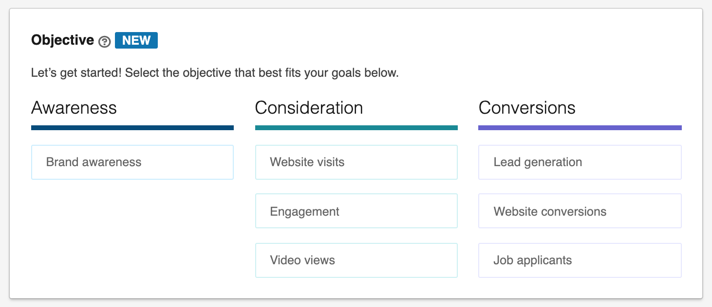 Choosing Your Campaign Objective In LinkedIn